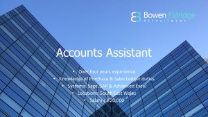 Accounts Assistant Candidate of the Month