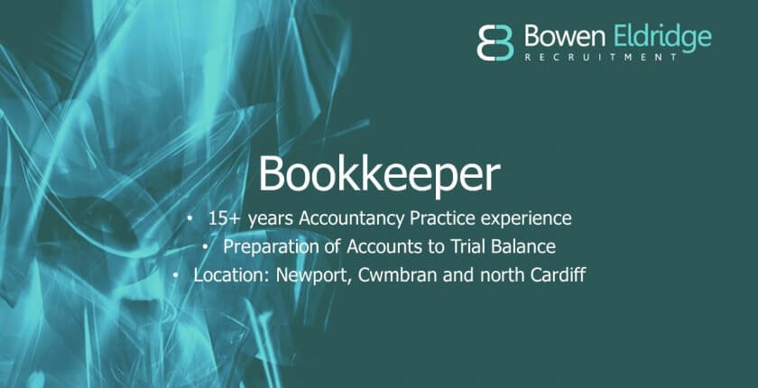 Bookkeeper available in Newport