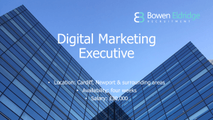 Digital Marketing Executive Candidate of the month