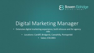 Digital Marketing candidate available in south Wales