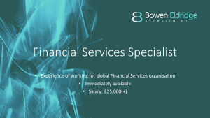 Financial Services candidate available in South Wales Cardiff Candidate of the Month