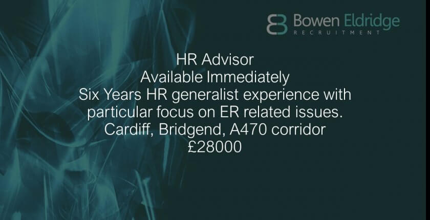 HR Advisor in south Wales