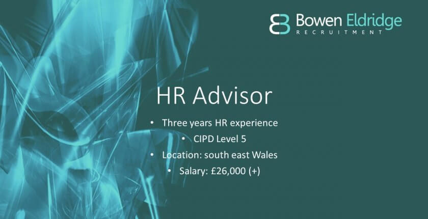 HR Advisor Candidate of the Month south Wales Newport Cardiff