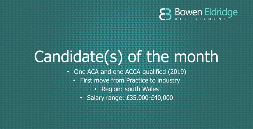 Candidate of the month Two newly qualified accountants available in south Wales